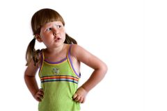 Menina querendo saber Imagens de Stock Royalty Free