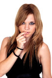 Menina rebelde adolescente Imagem de Stock Royalty Free