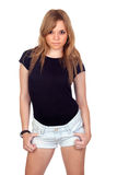 Menina rebelde adolescente Fotografia de Stock Royalty Free