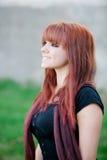 Menina rebelde do adolescente com cabelo vermelho Imagem de Stock Royalty Free