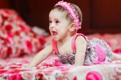 Menina recém-nascida Fotos de Stock