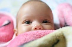 Menina recém-nascida Foto de Stock Royalty Free
