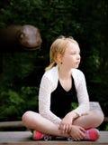 A menina relaxa Foto de Stock