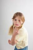 Menina resoluto fotos de stock royalty free