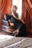 Menina retro 'sexy' Imagem de Stock Royalty Free