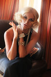 Menina retro 'sexy' Imagens de Stock Royalty Free