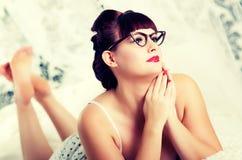 Menina retro 'sexy' de 50s Pinup Foto de Stock Royalty Free