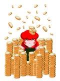 Menina rica ilustração royalty free