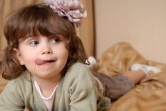 A menina ridícula Fotografia de Stock Royalty Free