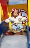 A menina rola do monte Fotografia de Stock