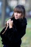 Menina romântica na floresta Imagem de Stock