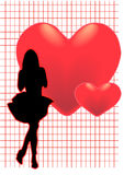 Menina romance Foto de Stock Royalty Free