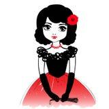 Menina romântica bonita Dançarino do flamenco, menina espanhola Fotos de Stock Royalty Free