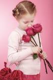 Menina rosado fotografia de stock