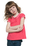 Menina ruivo de sorriso Fotografia de Stock Royalty Free