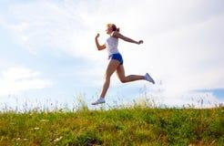 Menina Running Imagens de Stock
