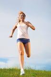 Menina Running Imagens de Stock Royalty Free
