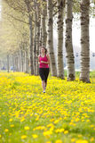 Menina Running Fotografia de Stock