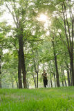 Menina running Imagem de Stock Royalty Free