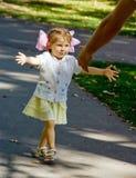 Menina Running Foto de Stock Royalty Free