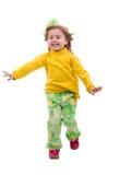 Menina Running da criança. fotografia de stock