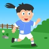 Menina Running no parque Imagem de Stock Royalty Free