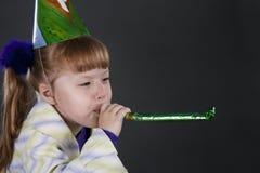 Menina só no aniversário Imagem de Stock