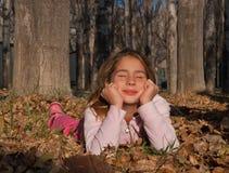 Menina satisfeita Imagens de Stock Royalty Free