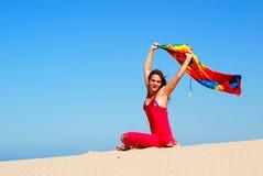 Menina saudável feliz do estilo de vida Fotografia de Stock Royalty Free
