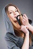 Menina saxy nova Charming Fotografia de Stock