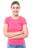 Menina segura nova de sorriso Imagens de Stock Royalty Free