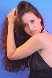 Menina sensual com cabelo longo Imagens de Stock