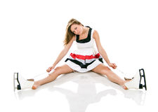 Menina sexual nos patins Imagens de Stock