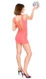 Menina 'sexy' com discoball Foto de Stock Royalty Free