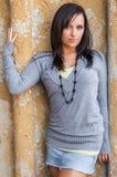 Menina 'sexy' com modelo de forma marrom do cabelo Fotos de Stock