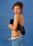 Menina 'sexy' com pele Fotografia de Stock Royalty Free