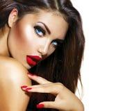 Menina 'sexy' da beleza Imagens de Stock Royalty Free