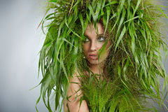 Menina 'sexy' da ecologia Imagem de Stock Royalty Free