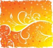 Menina 'sexy' da silhueta floral, ilustração do vetor Imagem de Stock Royalty Free