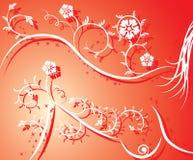 Menina 'sexy' da silhueta floral, vetor Imagem de Stock Royalty Free