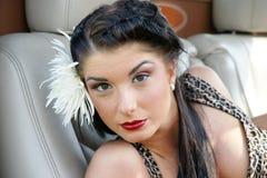 Menina 'sexy' do pino-acima com composição retro Foto de Stock