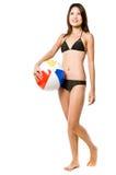 Menina 'sexy' e Beachball Imagens de Stock