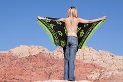 Menina 'sexy' na calças de ganga fotografia de stock royalty free