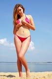 Menina 'sexy' na praia Imagem de Stock Royalty Free