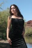 Menina 'sexy' no vestido Fotografia de Stock Royalty Free