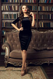 Menina 'sexy' no vestido imagens de stock royalty free