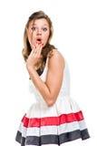 Menina 'sexy' no vestido branco Fotos de Stock Royalty Free
