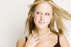 Menina 'sexy' no vestido preto imagem de stock royalty free
