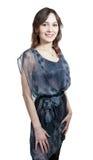 Menina 'sexy' no vestido transparente Imagens de Stock Royalty Free