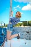Menina 'sexy' nova do marinheiro Imagens de Stock Royalty Free